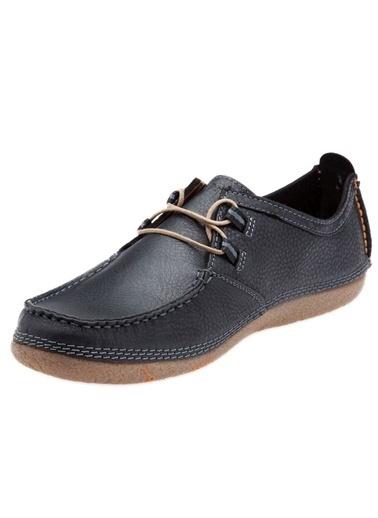Hush Puppies %100 Deri Bağcıklı Ayakkabı Siyah
